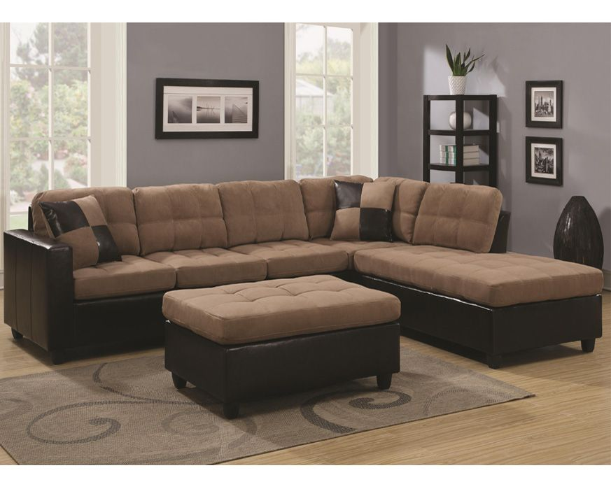 2 Pc Sectional 505675 Sec Mallory Mocha Furniture Factory Direct Microfiber Sectional Sofa Furniture Upholstered Sectional
