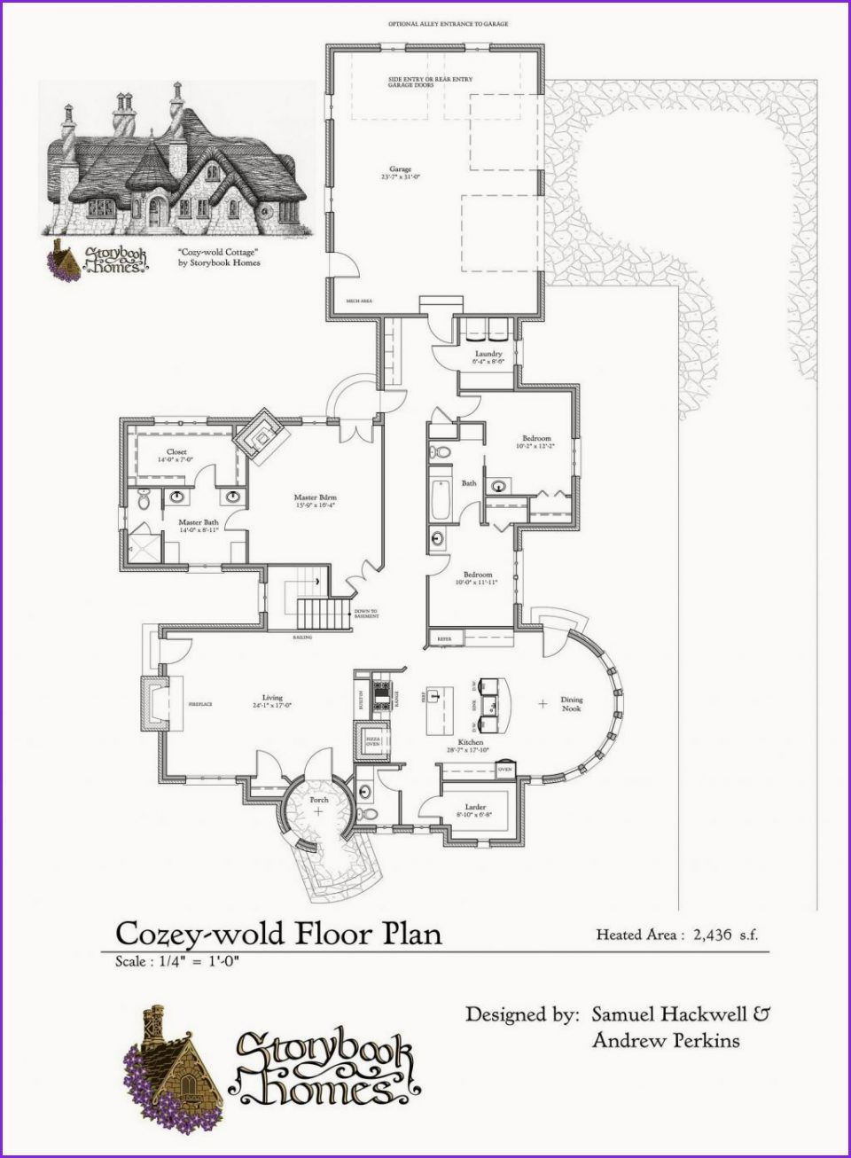 Awesome Fairytale Cottage In 2020 Storybook House Plan Cottage Floor Plans Cottage Plan