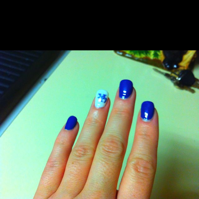 My KY Wildcats Nails! | love | Pinterest | Uk nails