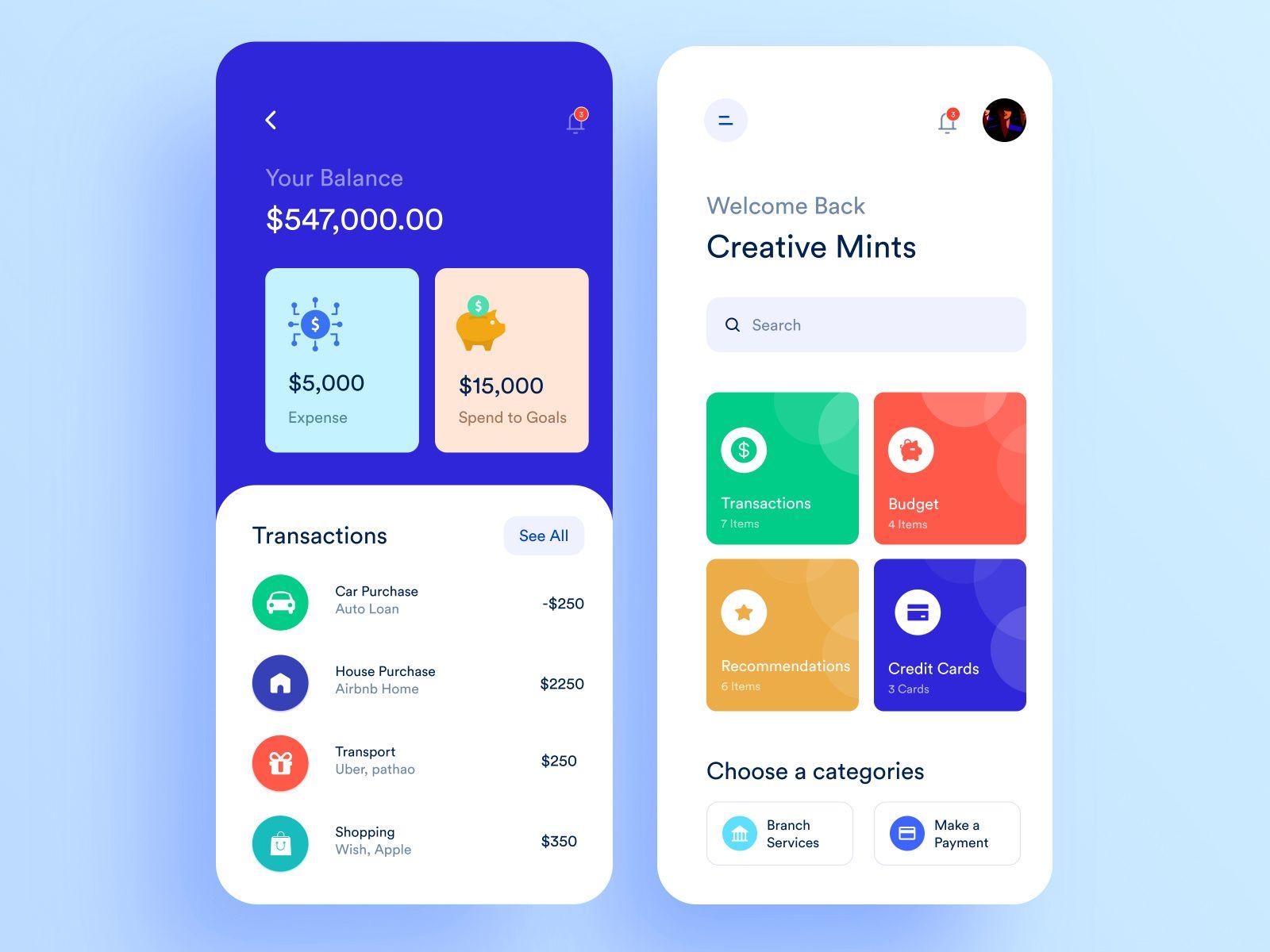 Bank Mobile Application Design Mobile Application Design Application Design Mobile Application