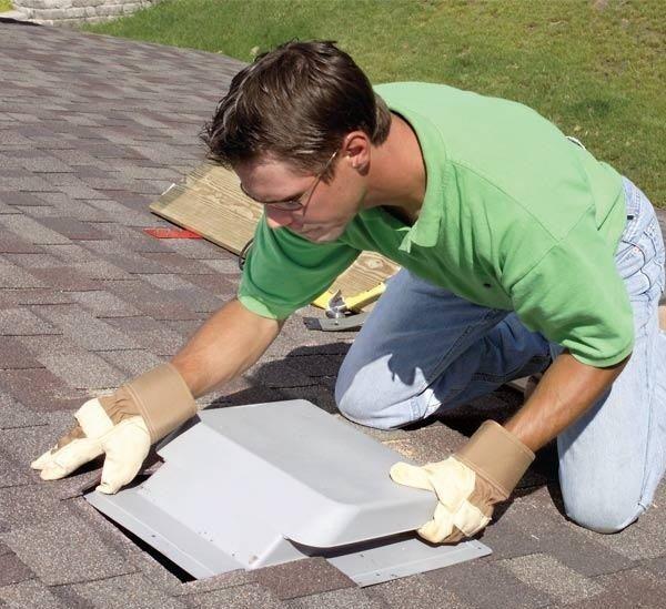 Installing Vent On The Roof Attic Ventilation Attic Insulation