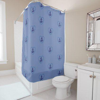 #ANCHORS AWEIGH SHOWER CURTAIN   #Bathroom #Accessories #home #living