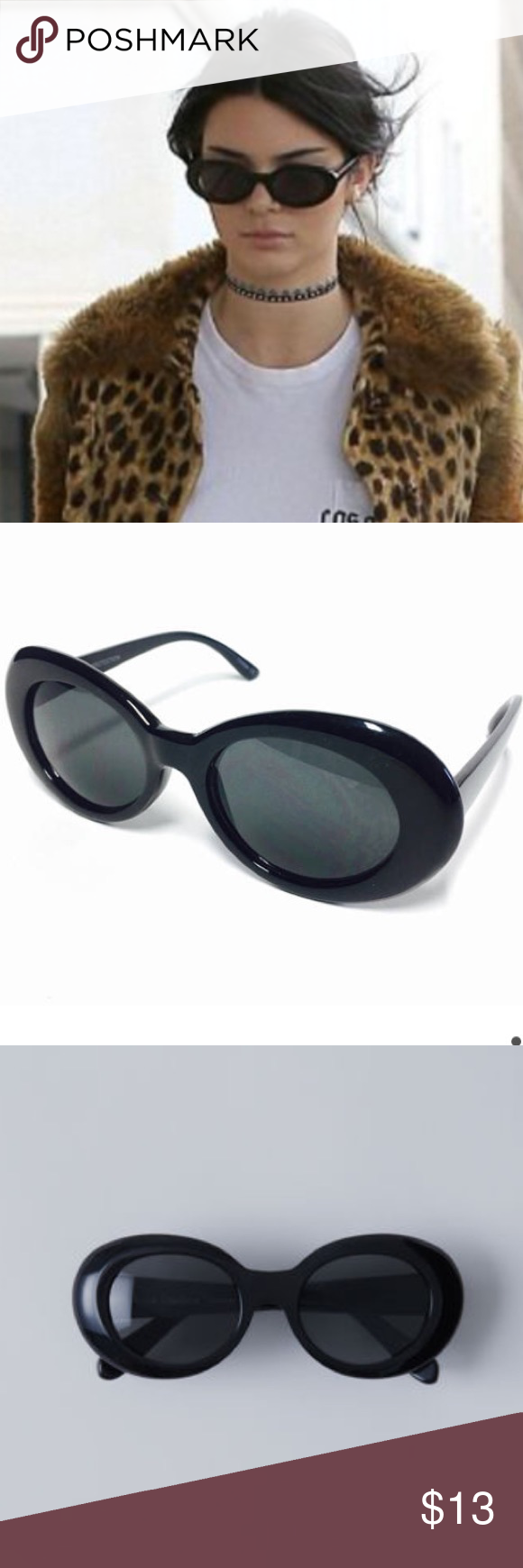 396b80343b Black Oval Clout Goggles   sunglasses Brand new black oval unisex clout  goggles. Kurt Cobain clout goggles. Available in 3 colors (white