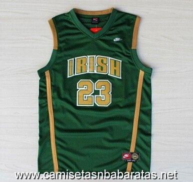 Camisetas NCAA baratas IRISH #23 James verde €22.99