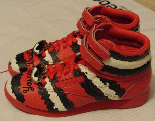 52f4a26fd 116$-Reebok-x-Melody-Ehsani-Freestyle-Hi-Women-039-s-Sneakers -Red-Rush-Chalk-Black