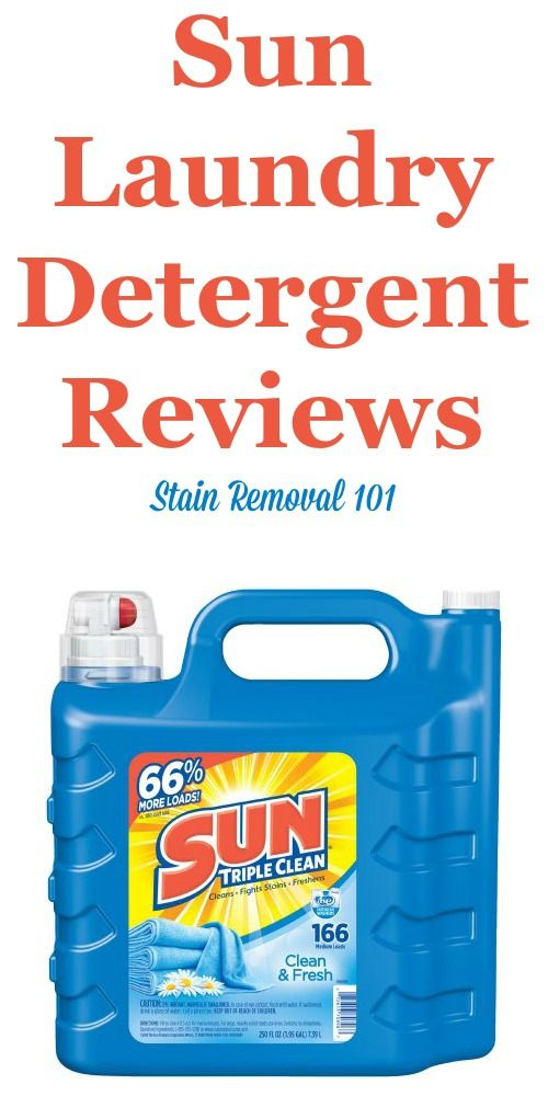 Sun Laundry Detergent Reviews Ratings And Information Laundry