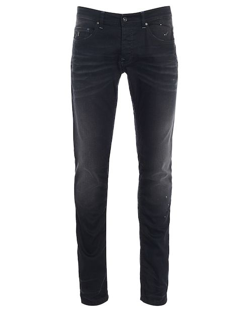 LOVEDAY JEANS Jeans mit dezenten Farbklecksen - schwarz  Jetzt auf kleidoo.de bestellen! #kleidoo #fashion #men #jeans #denim #hose #lovedayjeans