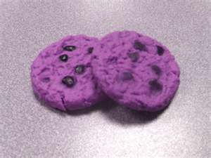 Wow... never saw a purple cookie before