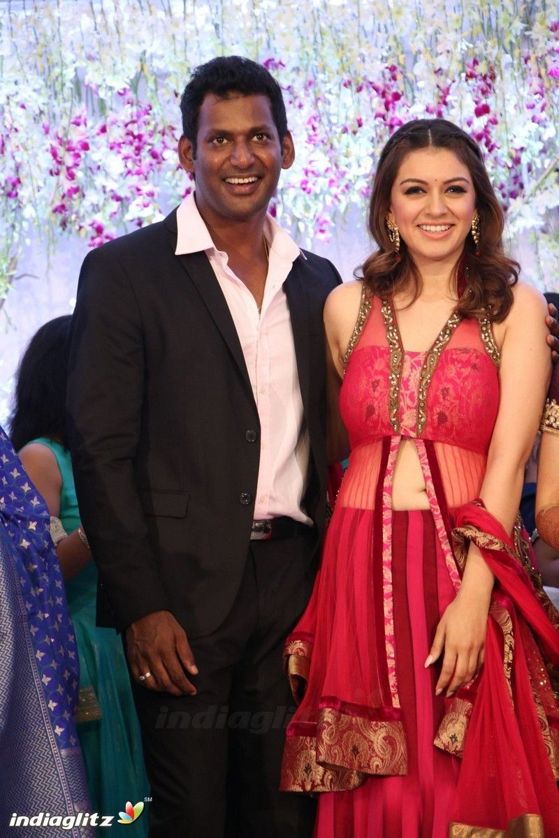 Hansika At Vishal S Sister Aishwarya Wedding Reception Indian Outfits Dresses Fashion