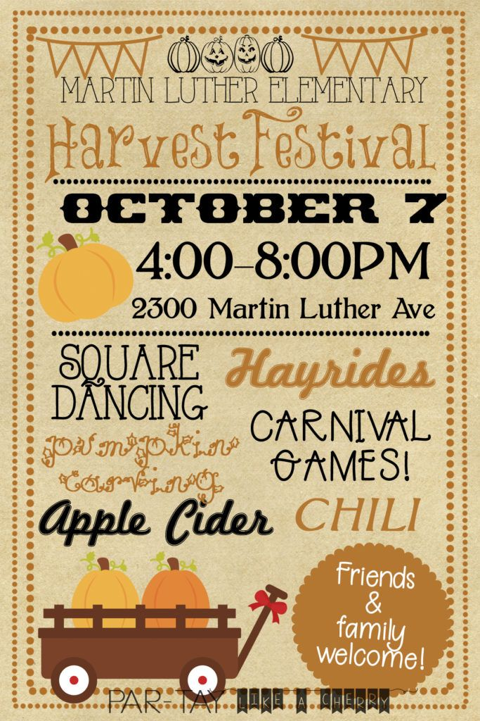 Harvest Festival Invitation The Best of the LDS Blogs Fall party