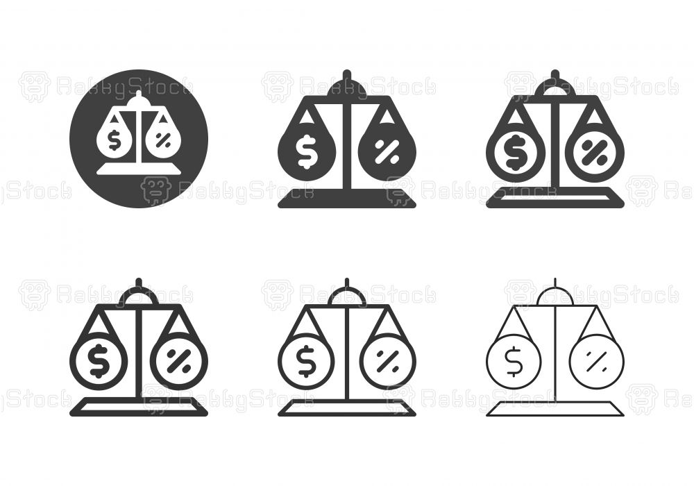 Financial Balance Icons Multi Series Vector EPS File