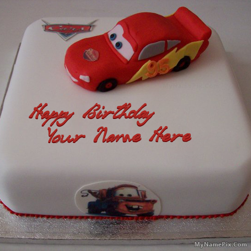 Best #1 Website for name birthday cakes. Write your name on Car Birthday Cake for Kidss picture in seconds. Make your birthday awesome with new happy birthday greetings cakes. Get unique happy birthday cake with name.