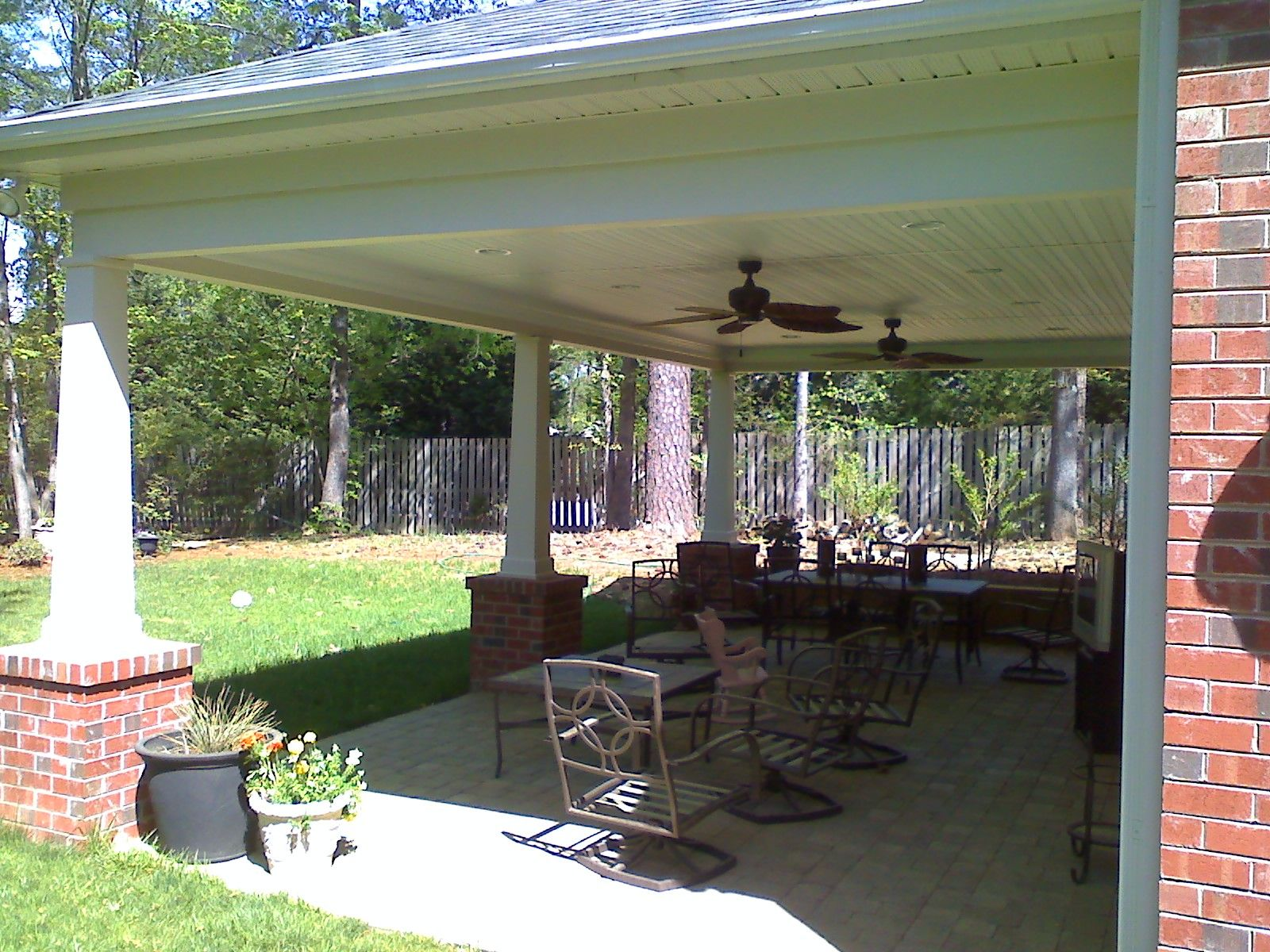 Detached Covered Patio Cost Garage Addition Attached