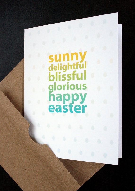 Easter card sunny happy easter sweet easter card for him her happy easter sweet easter card for him her negle Gallery