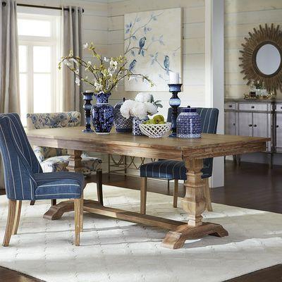 Bradding Natural Stonewash 84 Dining Table