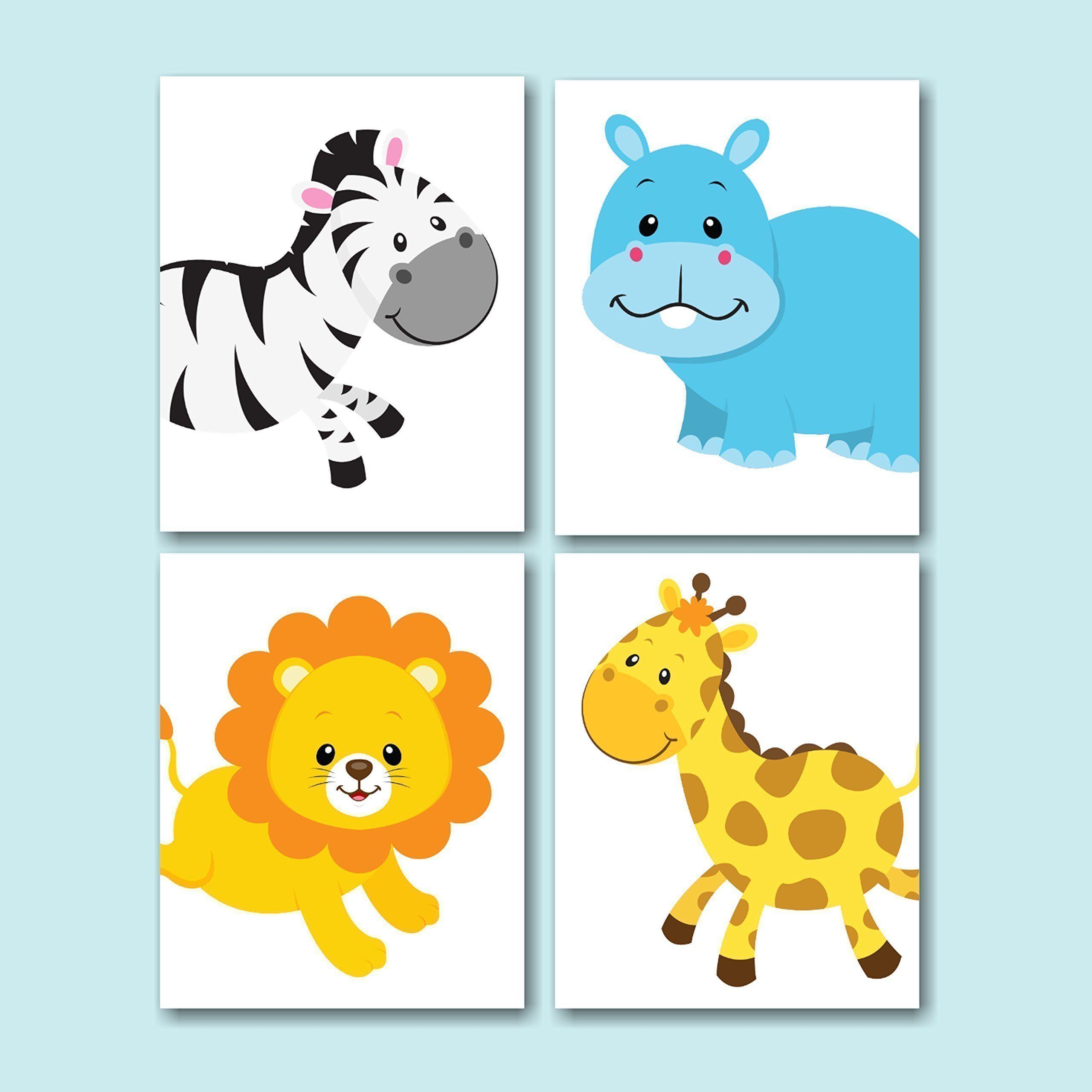 Safari Nursery Wall Art,Jungle Animals Nursery Wall Art