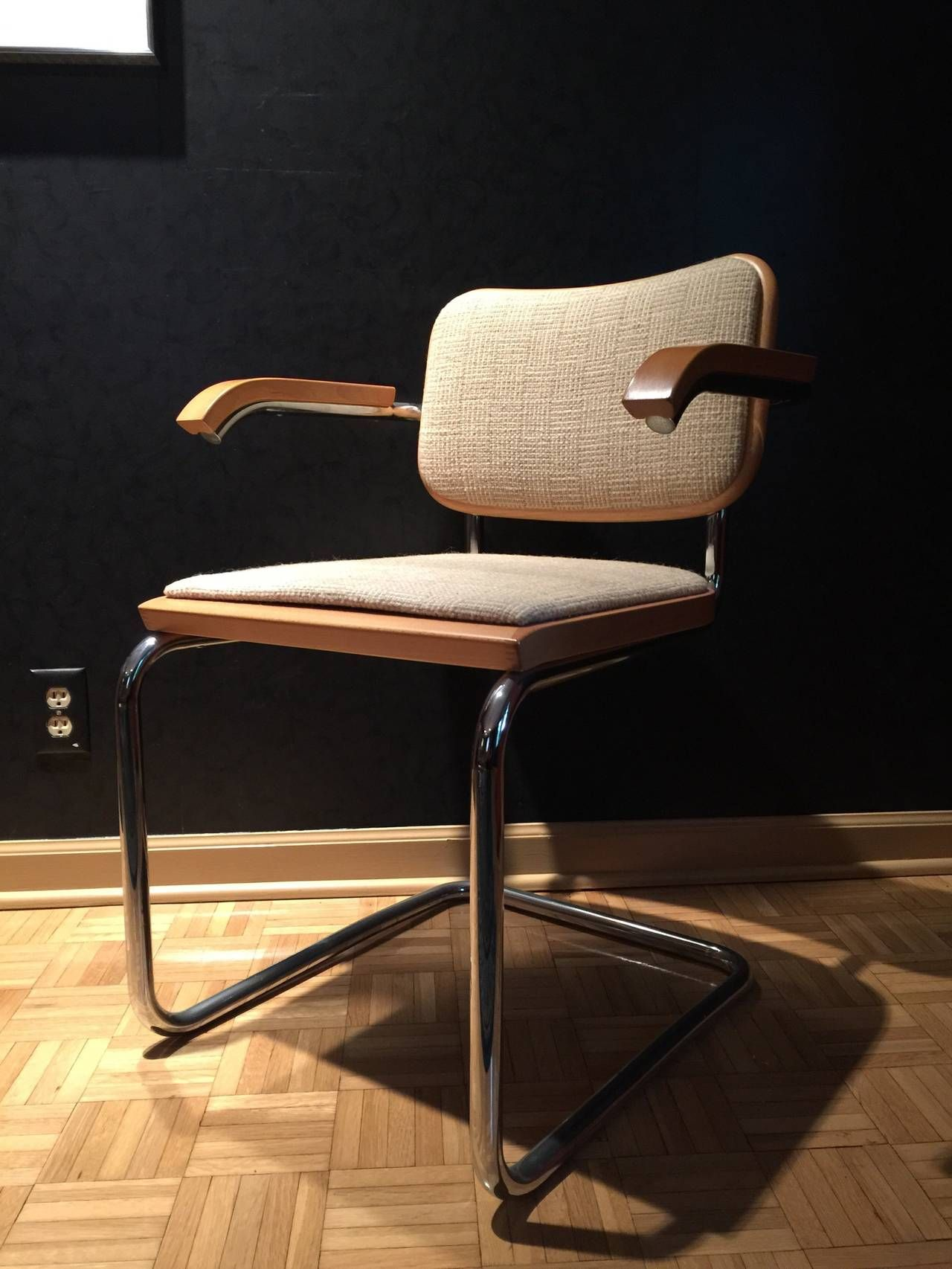 marcel breuer cesca chair with armrests steel folding incredible set of ten chairs by for knoll fabric from