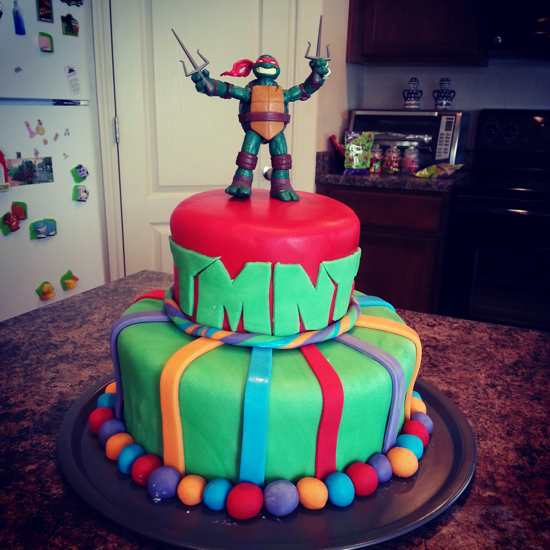 Teenage Mutant Ninja Turtle Birthday Cake Fondant Birthdaycake