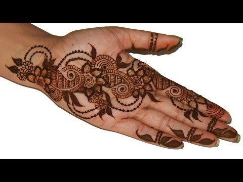 Learn full hand arabic henna mehendi design step by tutorial also rh pinterest