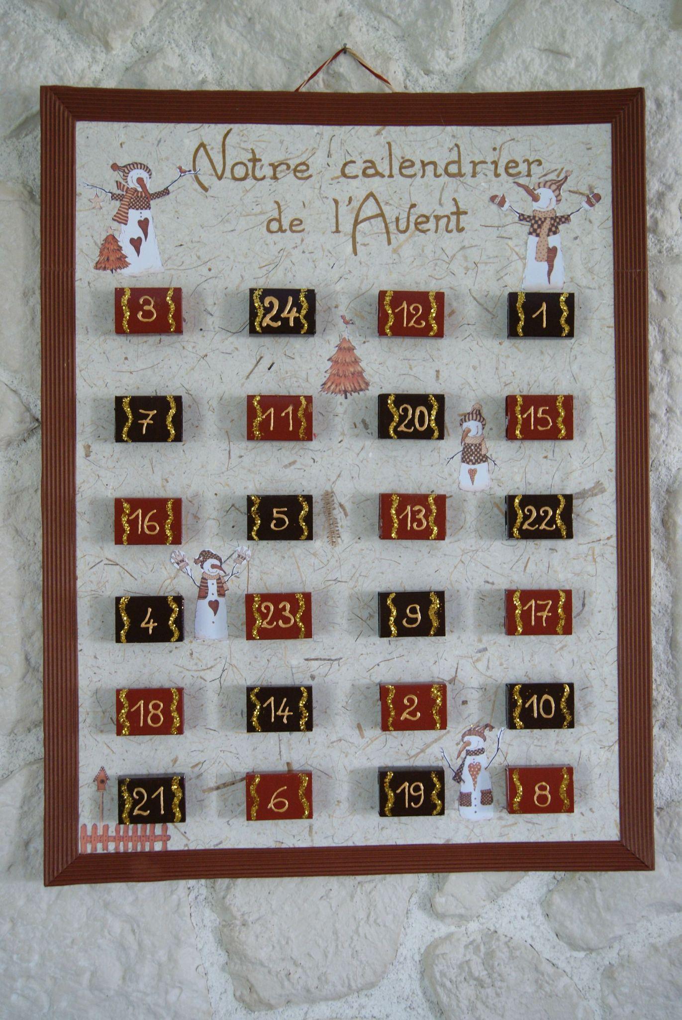 calendrier de l'avent avec des boîtes d'allumettes … | calendrier