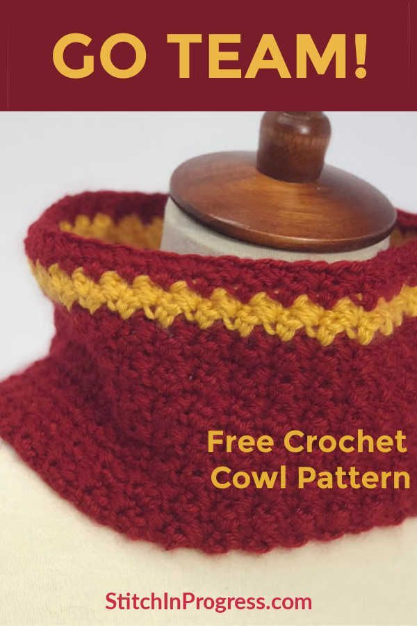 Team Cowl Crochet Pattern | CrochetHolic - HilariaFina | Pinterest
