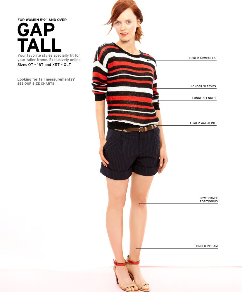 Women's Clothing: Women's Clothing: Tall | Gap. Why is this normal ...