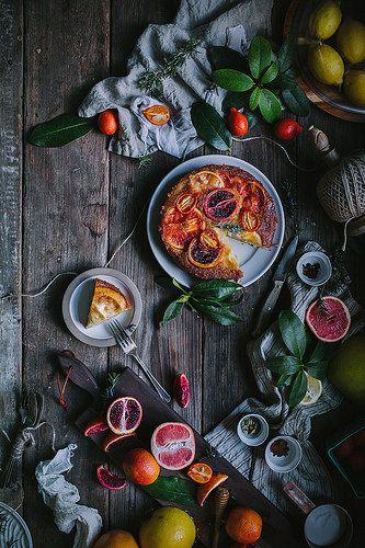 Winter Citrus Upside Down Cake by Eva Kosmas Flore