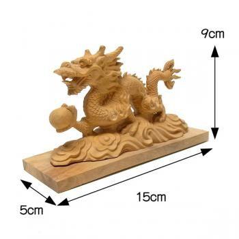柘植 木彫りの雲龍 幅15cm / 龍祥 | 木彫り. 彫刻. 霊獣