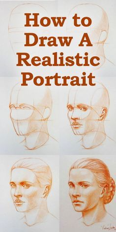 How to Draw a Portrait in Three Quarter View - EmptyEasel.com