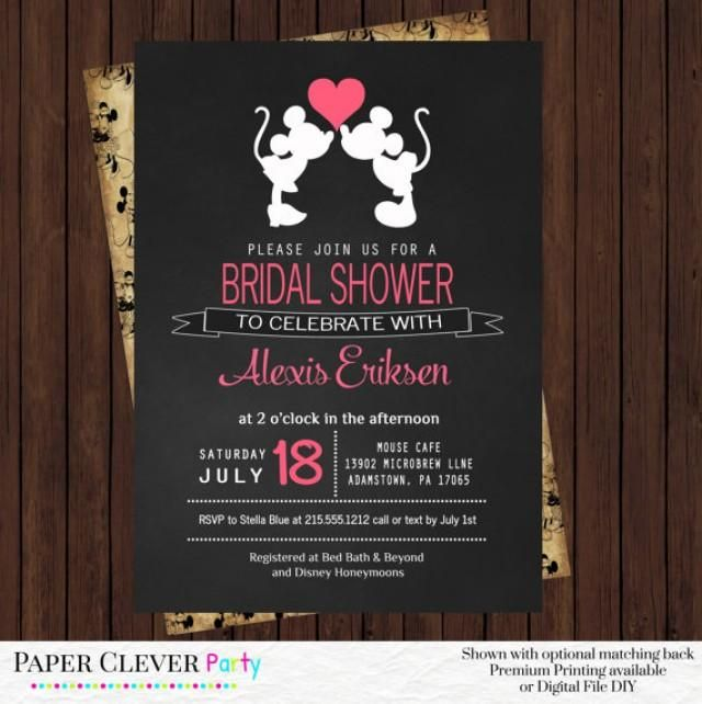 Hey I Found This Really Awesome Etsy Listing At Https Www Etsy Com Listing 1 Bridal Shower Invitations Etsy Disney Bridal Showers Wedding Shower Invitations