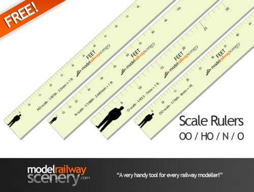 Free Download Print Scale Rulers For Railway Modellers Model Trains N Scale Model Trains Train Layouts