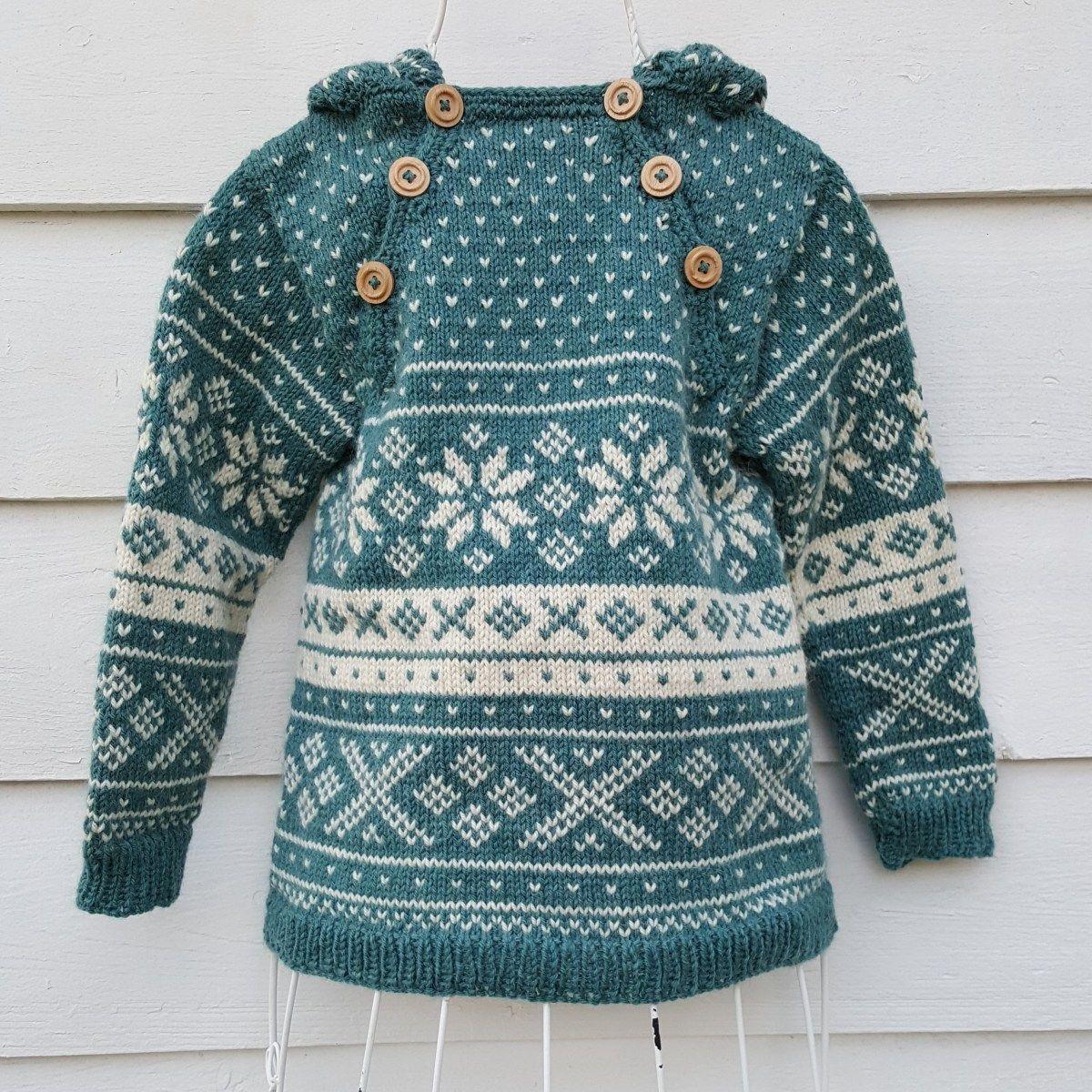 strikkeoppskrift genser gutt