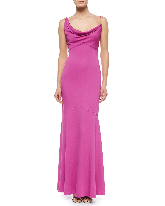 Nicole Miller Sleeveless Cowl-Neck Mermaid Gown, Women\'s, Size: 4 ...