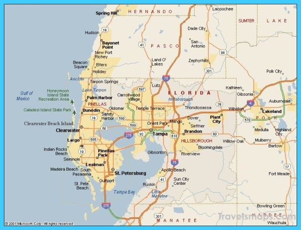 nice Map of Tampa Florida | Travelsmaps | Pinterest | Florida, Tampa ...