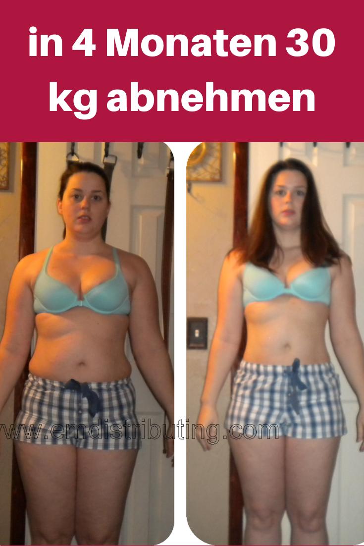 30 Kilo in 4 Monaten verlieren und