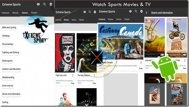 Watch TV Stream Online Extreme Sports Movies & TV APK