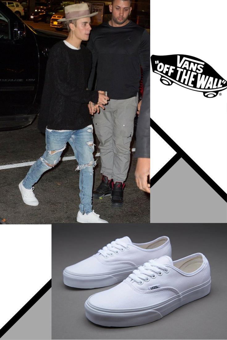 justin bieber vans chaussures 2015