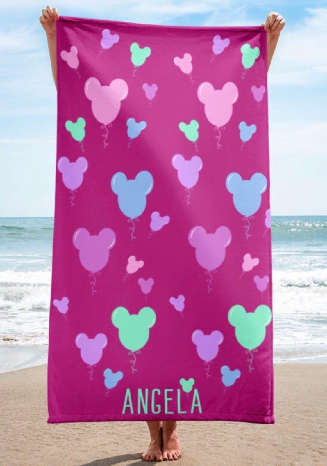 Personalized Beach Towel Buena Vista Magic Personalized Beach