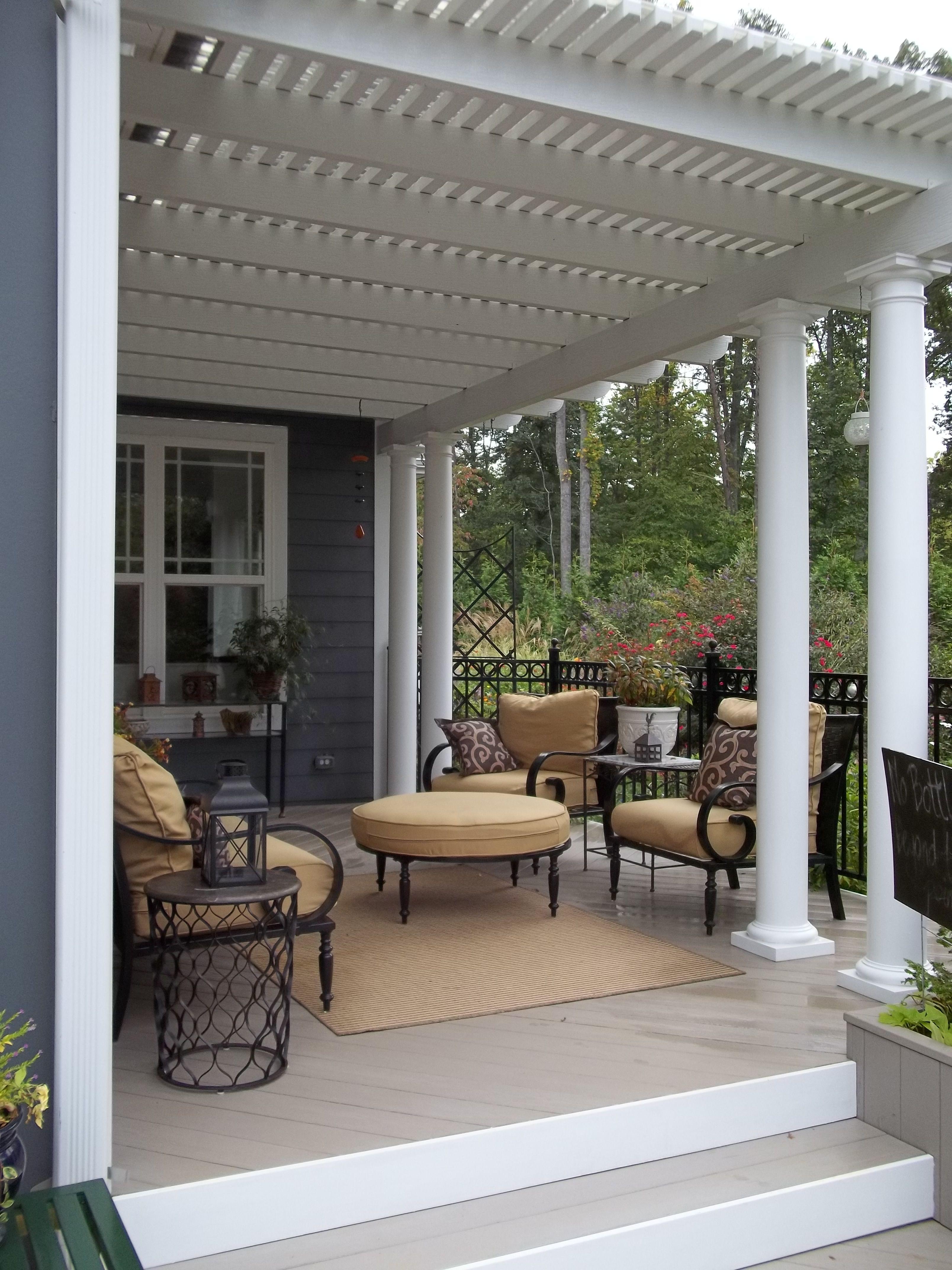 I Love This Aluminum Pergola With Polycarbonate Roof To Keep The Rain Off Aluminum Pergola Patio Design Pergola Patio