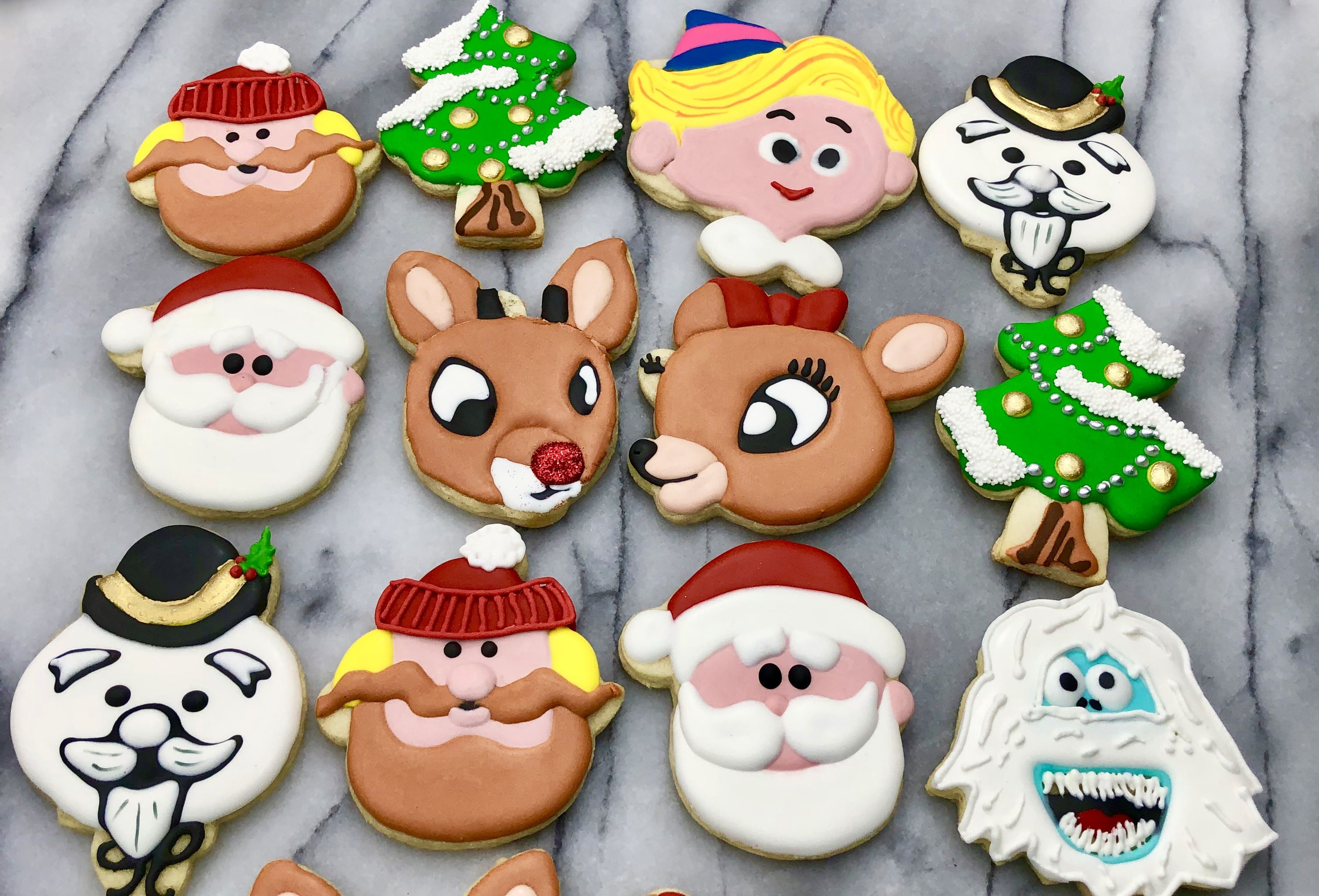 Reindeer And Friends Christmas Cookies Christmas Sugar Cookies Rudolph Cookies Reindeer Cookies