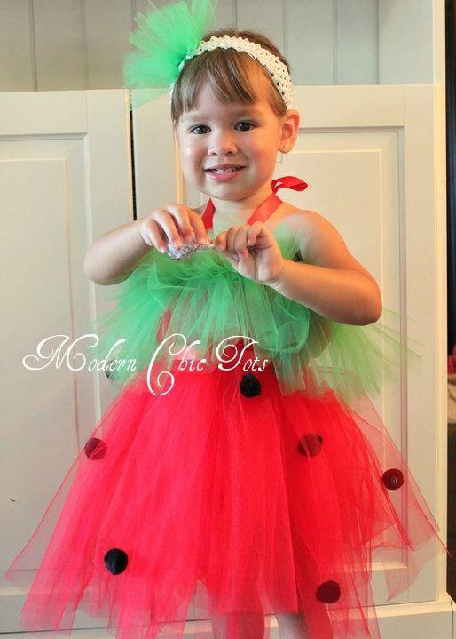 watermelon tutu! !@Stephanie @ Little Boo Creations this is for you - halloween tutu ideas