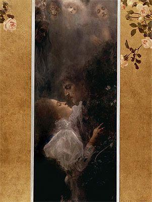 Painting Title: Love, 1895   Artist: Gustav Klimt (1862-1918)   Medium: Fine Art Painting Reproduction by TOPofART.com