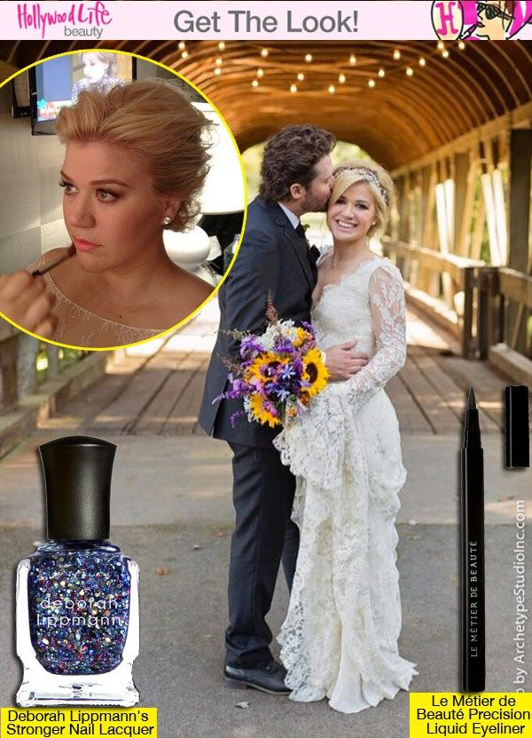Kelly Clarkson S Bridal Chic Beauty Her Must Have Products Formal Hairstyles Kelly Clarkson Wedding Bridal Looks