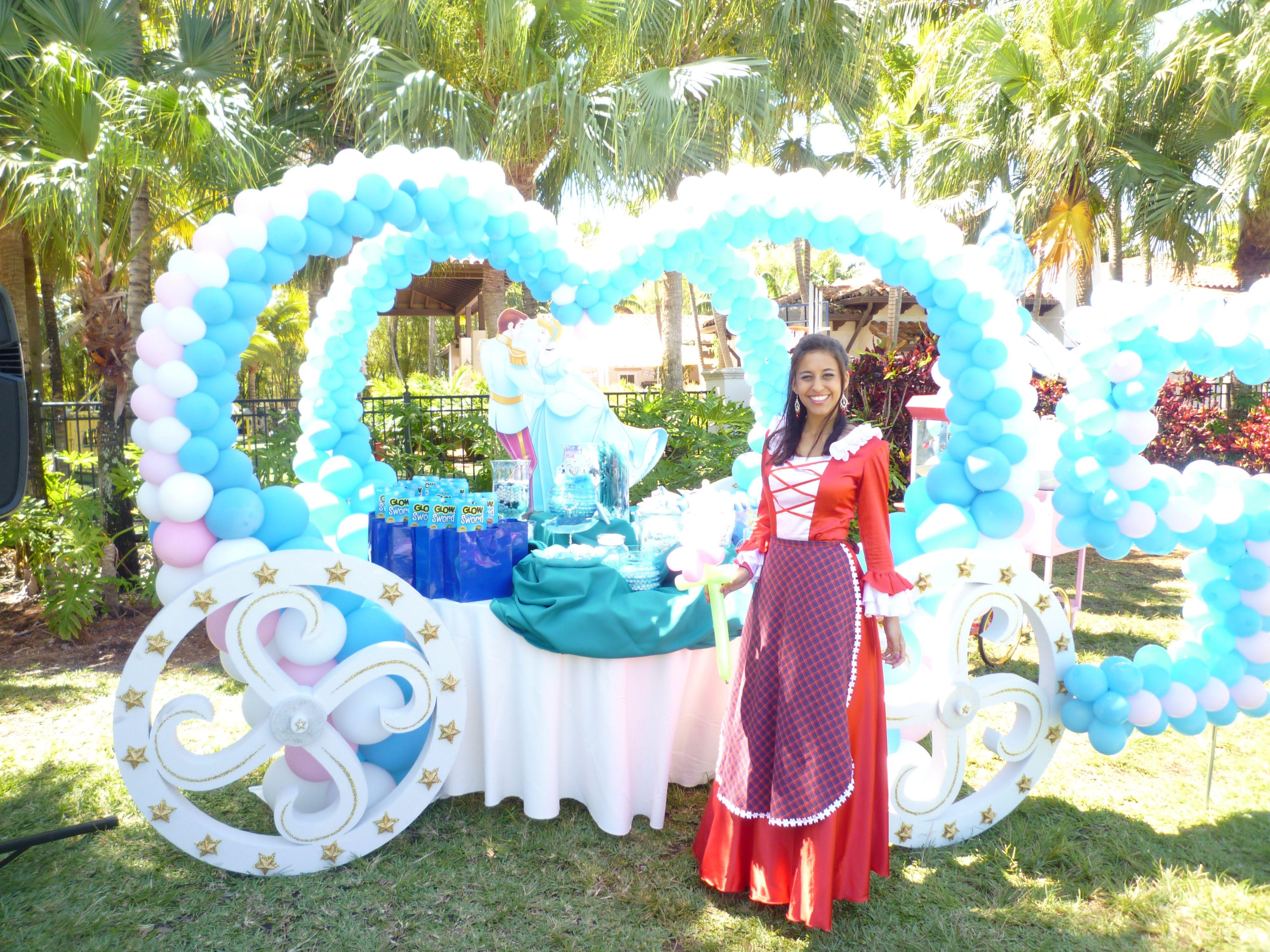 Cinderella princess theme balloon decoration. www ...