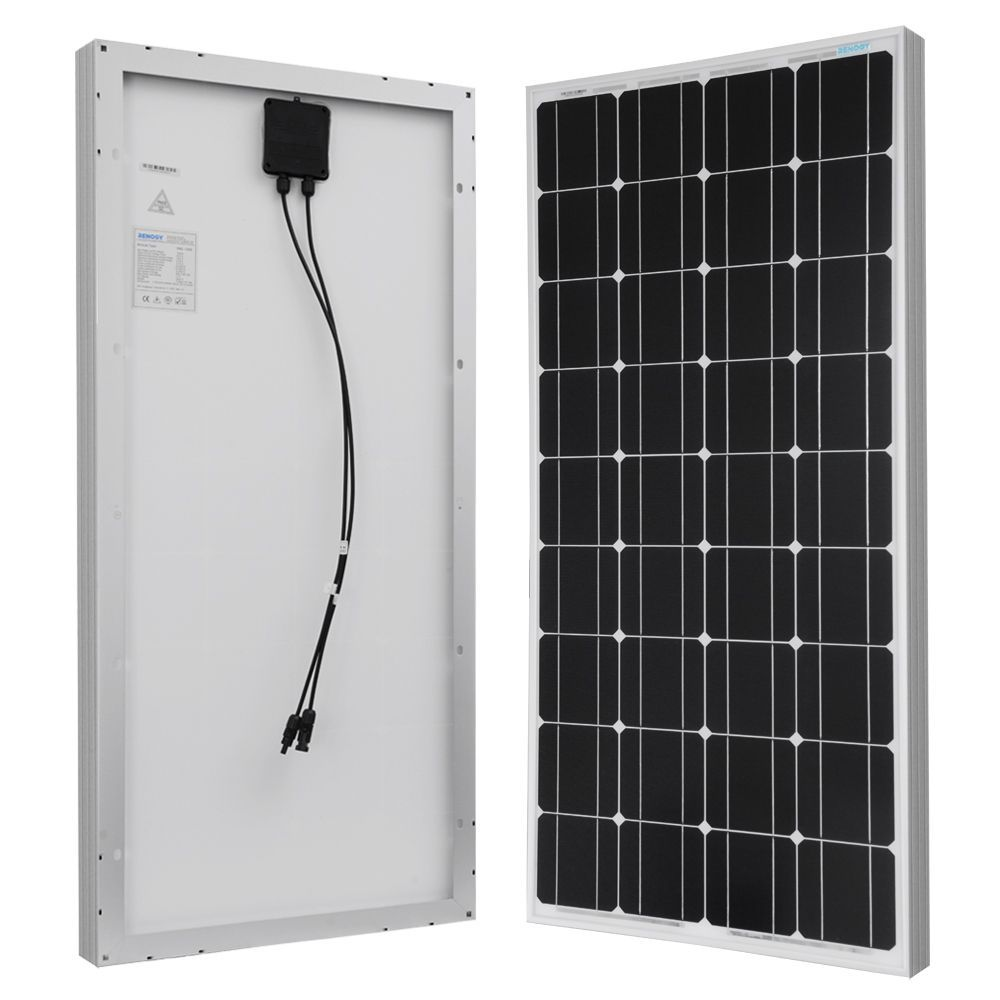 Petite Renogy Solar Panel 100w Watt Monocrystalline 12v Off Grid Rv Boat Renogy 100w Monocrystalline Solar Panel White Glass Solar Panels Best Solar Panels Solar Panel Kits