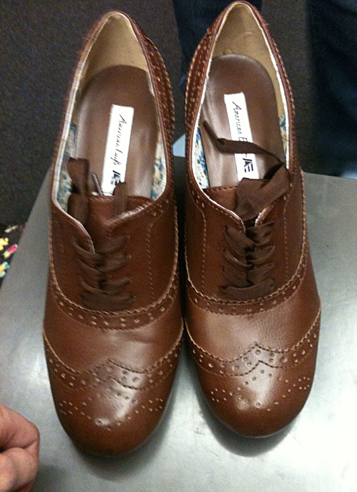 This Fan Found A Pair Of Oxford Wing-tipped Shoes. They