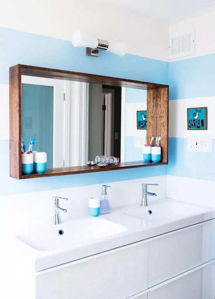 20 Framed Bathroom Mirror Ideas For Double Vanity Single Sink
