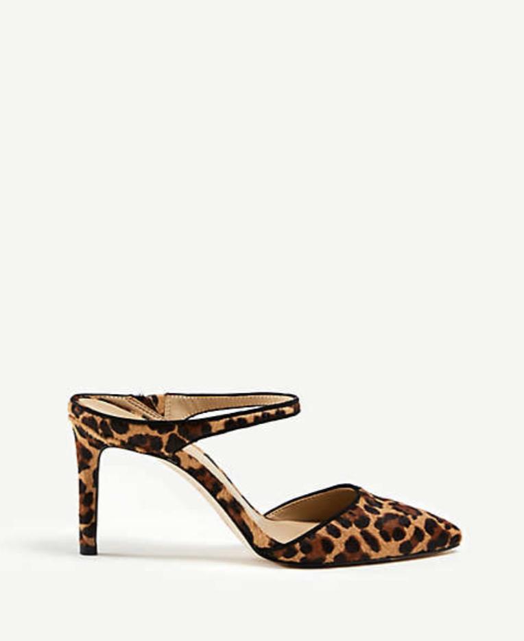 b0e417038e35 Ann Taylor Jodie Leopard Print Hair Calf Mule Pumps | Ann Taylor x ...