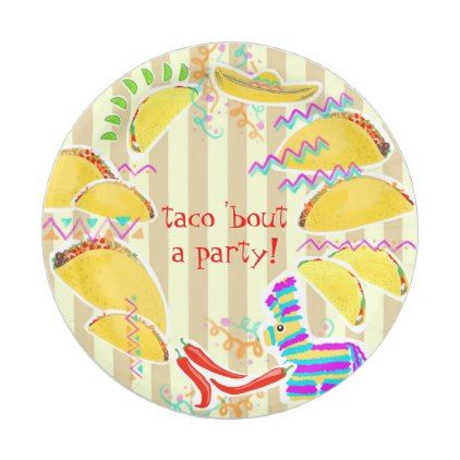 taco party plate customize fun design kitchen gifts diy ideas