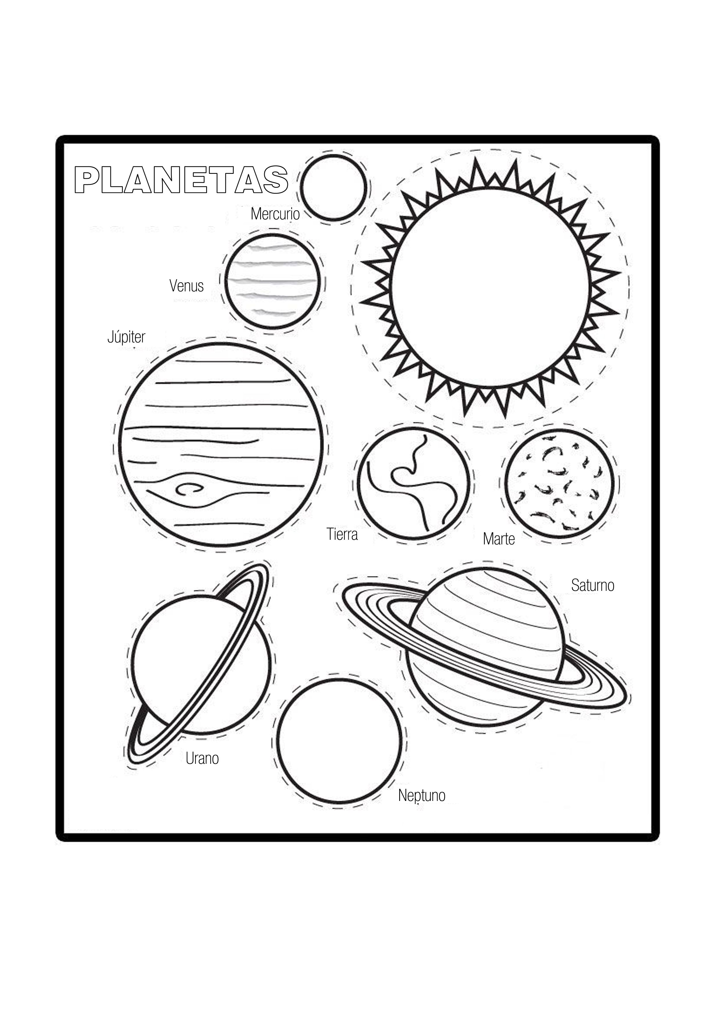 Color The Planets Worksheet